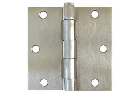 "Satin Nickel 3 1/2"" Door Hinges Square Corner US15"