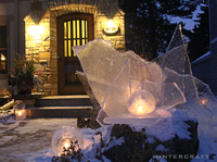 Wintercraft Front Door Globe Ice Lantern Installation