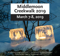Middlemoon Creekwalk Ice Luminary Walk