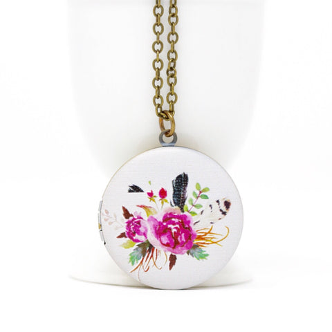 Boho Locket Necklace - Jacaranda