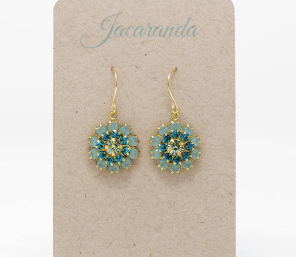 Vintage Swarovski Crystal Flower Earrings - Style 2 - Jacaranda