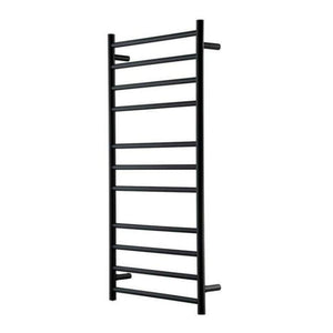Heirloom Genesis Nero Heated Towel Rail - Black - 1220 x 600mm