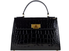 Fonteyn Mignon 'Croc Print' Leather Handbag - 4