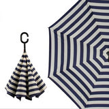 Black N White Inside Out Umbrella