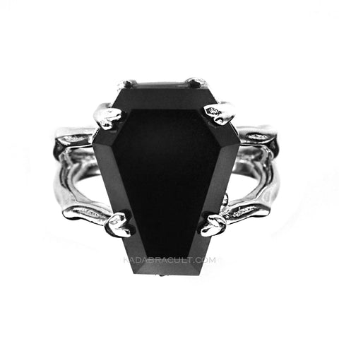 'TILL DEATH Sterling Silver Coffin Ring