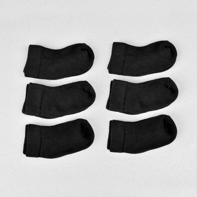 Kid's Unisex Six Pair Foot Locker Low cut Socks Socks Mouzay Black EUR 19-25