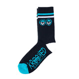 Krooked - Big Eyes Sock (Black/White/Blue)