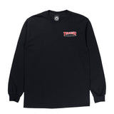 Thrasher - Embroidered Outlined LS Tee (Black)