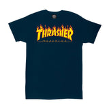 Thrasher - Flame Logo Tee (Navy Blue)