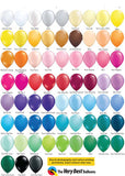 Choose your latex balloon color from this Qualatex chart.