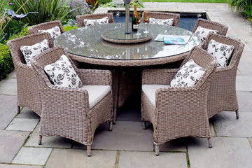 Rattan 8 Seater Garden Furniture Sets