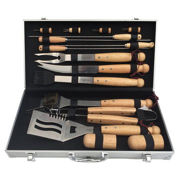 Grillstream Classic 16pc Barbecue Wooden Tool Set