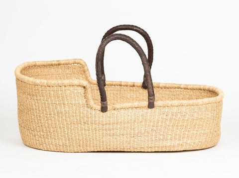 DIDI: Natural Woven Moses Basket - Baby - The Basket Room