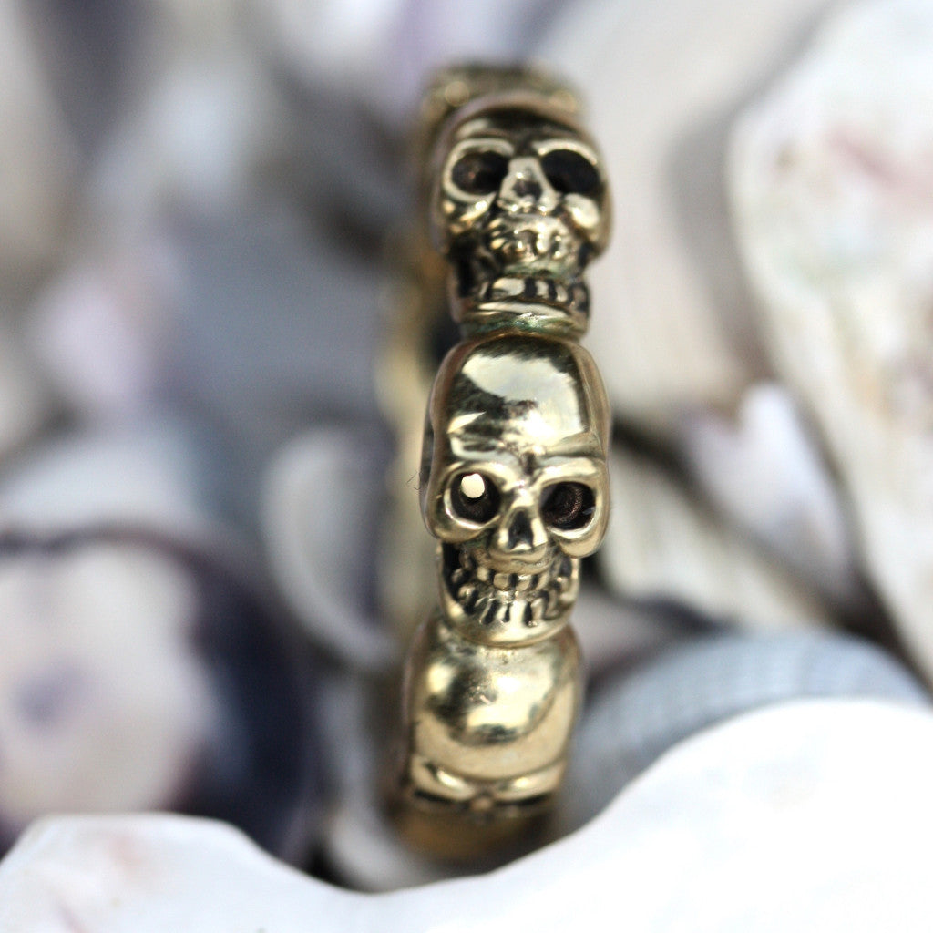 My Jumeaux Cugini Skull Stacker Ring
