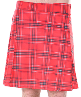 Men's Running Kilt - Red Plaid