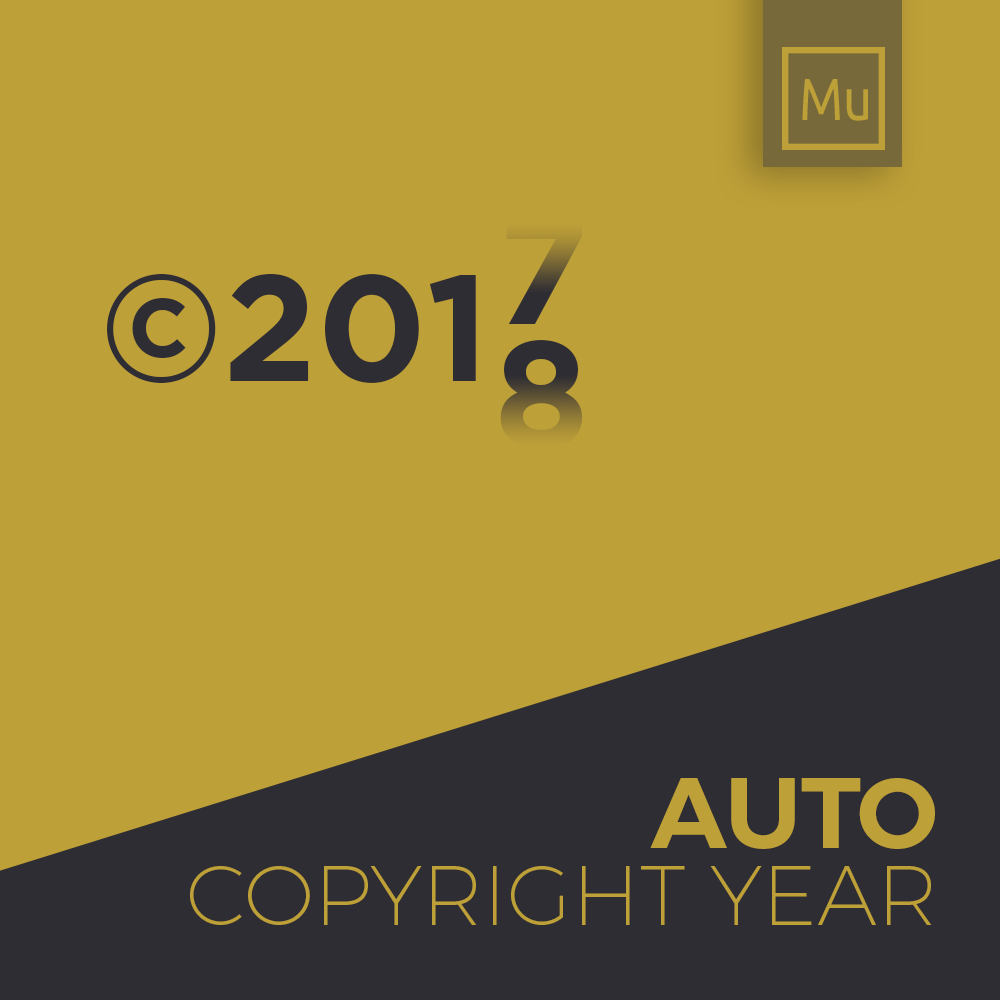Auto Copyright Year Update Adobe Muse Widget