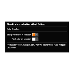Text Selection Widget