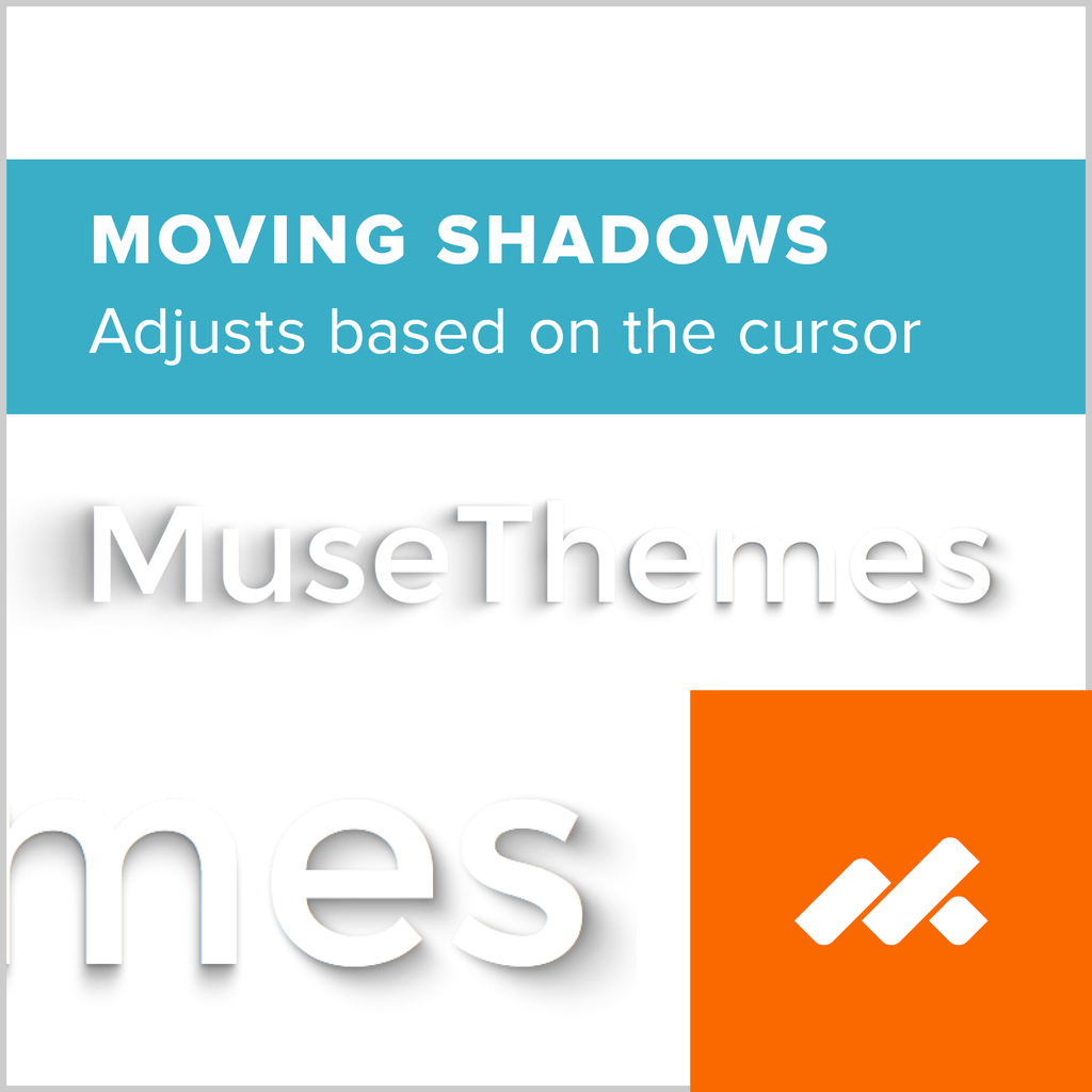 Moving Text Shadows Adobe Muse Widget