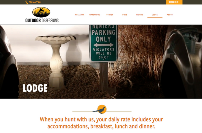 Wingshot Design Client Site: Outdoor Obsessions, United States
