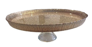 "Elegance 31223 13"" Cotton Glass Cake Stand"