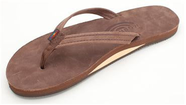 Rainbow Single Layer Premium Leather (Narrow) - Women's Sandals