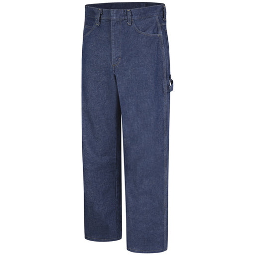 "Bulwark® 44"" X 32"" Blue Denim Cotton Flame Resistant Dungarees With Button Closure"