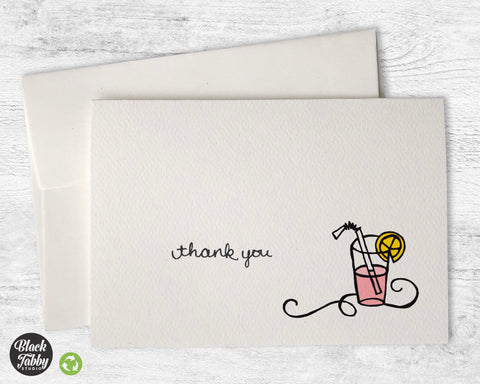 Pink Lemonade - Thank You Cards