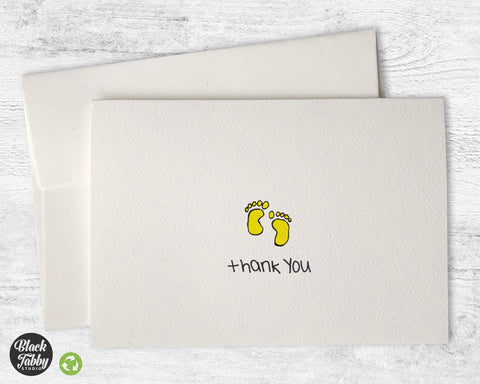 Adorable Baby Feet - Thank You Cards