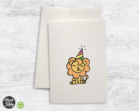 Party Lion - Greeting Cards