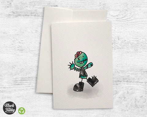 Silly Little Zombie - Greeting Cards
