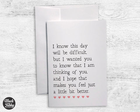 I Know This Day... - Sympathy Cards