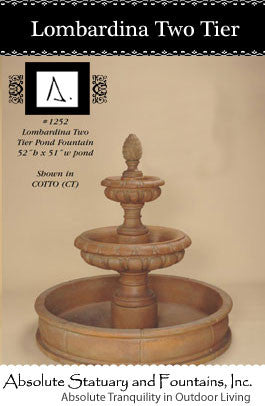 Lombardina Two Tier Pond Fountain
