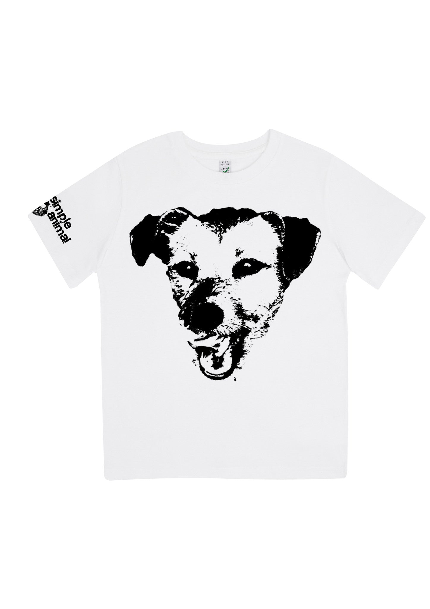 Happy Dog, 100% Organic Cotton, for the Kids - Simple Animal  - 2