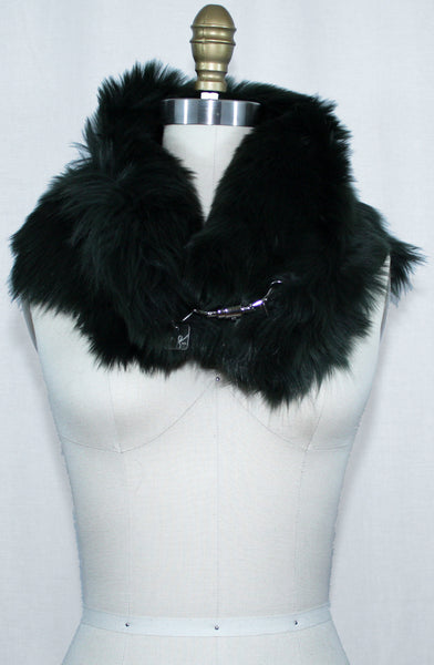 Forest Green Toscana Fur Scarf