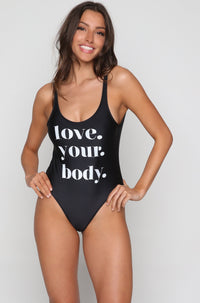 Love Your Body One Piece in Black