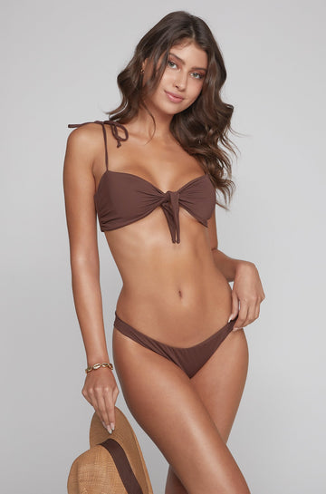 Emily Top in Brown