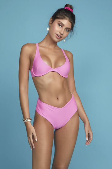 Sirena Balconette Top in Deep Pink