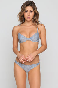Manhattan Mesh Bikini Top in Sky/Beach Babe