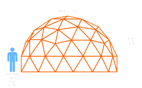 23-ft v3 5/9 Dome (Thick Pipe)