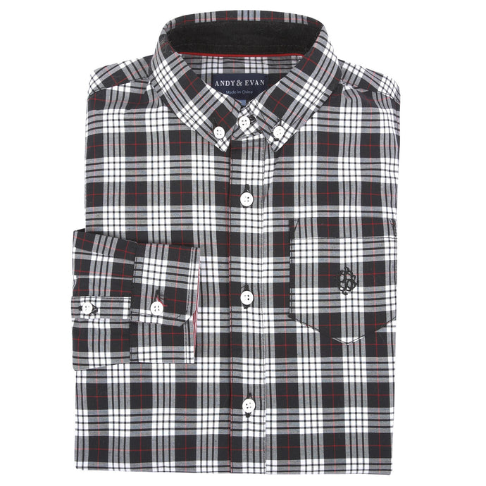 Black & White Holiday Shirt - Andy & Evan
