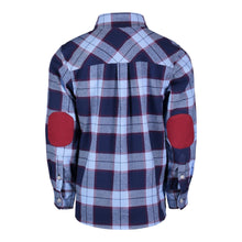 Load image into Gallery viewer, Blue & Maroon Plaid Flannel - Andy & Evan