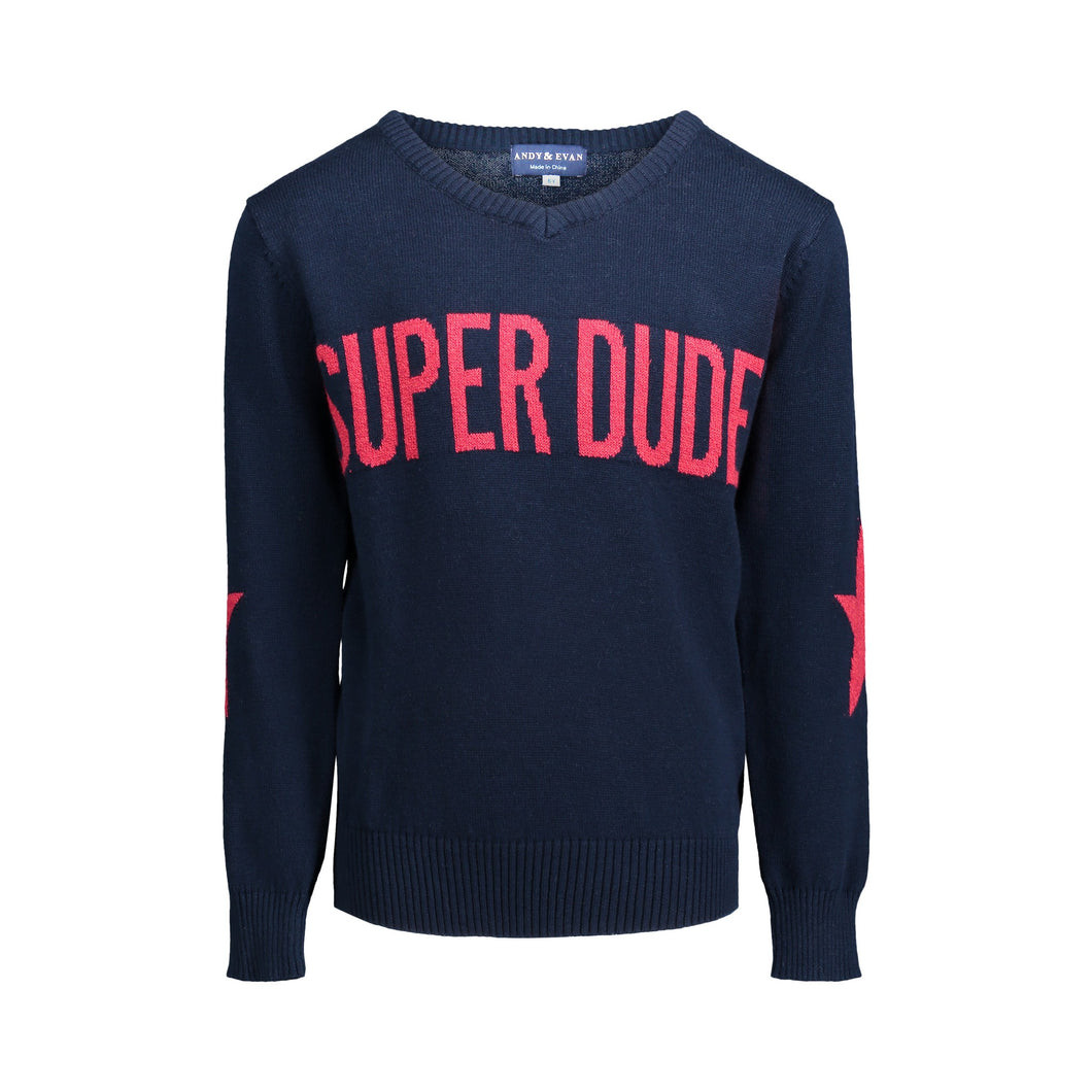 Super Dude Graphic Sweater - Andy & Evan