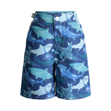 Load image into Gallery viewer, UPF 50 Navy Shark Swim Trunks  (Recommended by the Skin Cancer Foundation) - Andy & Evan