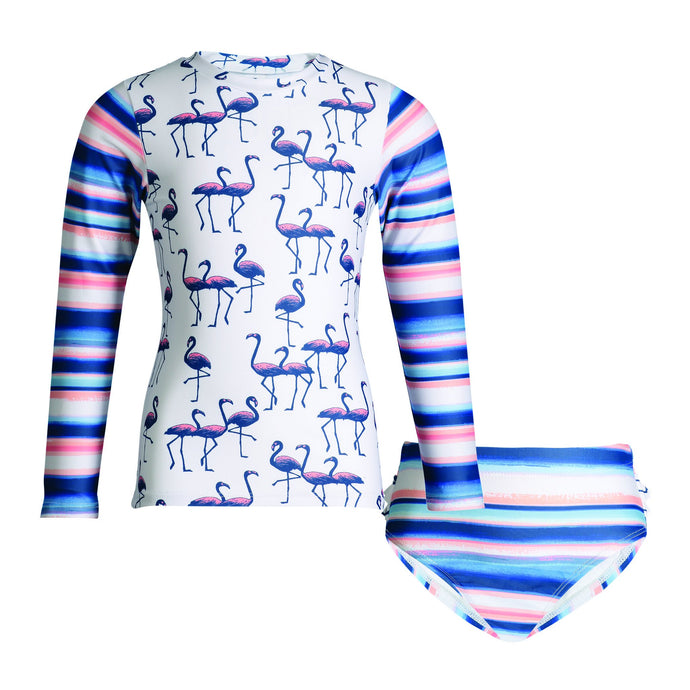 UPF 50 Flamingo Rashguard Set (Recommended by the Skin Cancer Foundation) - Andy & Evan