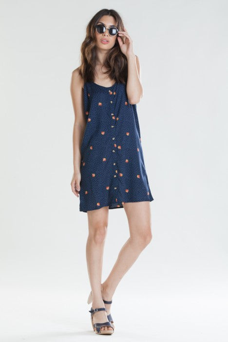 OBEY - Alanis Women's Dress, Navy - The Giant Peach