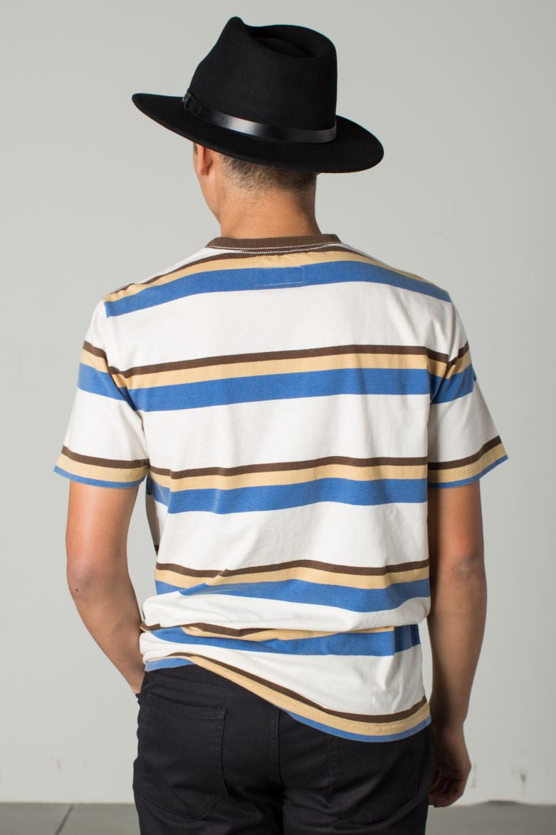Brixton - Clive Men's S/S Knit Tee, Off White - The Giant Peach