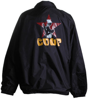 The Coup - Official Logo Windbreaker Jacket, Black - The Giant Peach