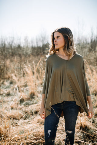 Adley Top - Olive