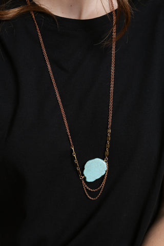 Turquoise & Hexagon Necklace