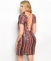Sequins Sunset Tribal Dress Curvy7